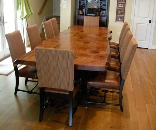 Rustic Dining Table – Live Edge Wood Slabs Inside Tree Dining Tables (Image 13 of 20)