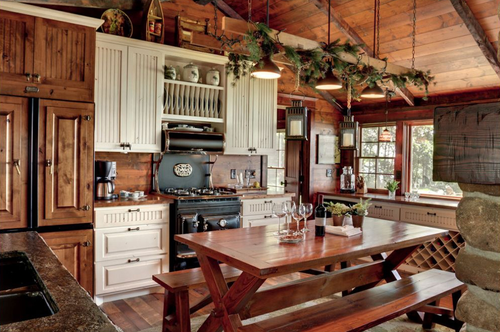 Rustic Kitchens Design Ideas Tips Inspiration Pertaining To Small Rustic Kitchen Chandeliers (Image 22 of 25)