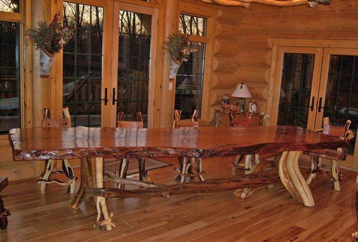 Rustic Log Tables |  Log Furniture Collection Log Dining Rustic With Big Dining Tables For Sale (Image 18 of 20)