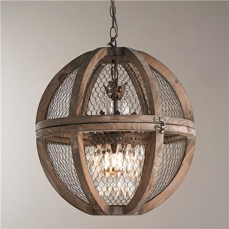 Rustic Orb Chandelier Kbdphoto Pertaining To Metal Ball Chandeliers (Image 24 of 25)