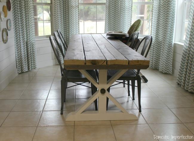Rustic Picnic Style Dining Table – Domestic Imperfection Within Indoor Picnic Style Dining Tables (View 17 of 20)