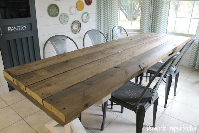 Rustic Picnic Style Dining Table – Domestic Imperfection Within Indoor Picnic Style Dining Tables (View 1 of 20)
