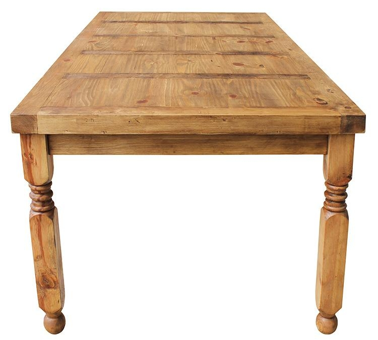 Rustic Pine Collection – Lyon Dining Table – Mes24 For Lyon Dining Tables (Image 18 of 20)