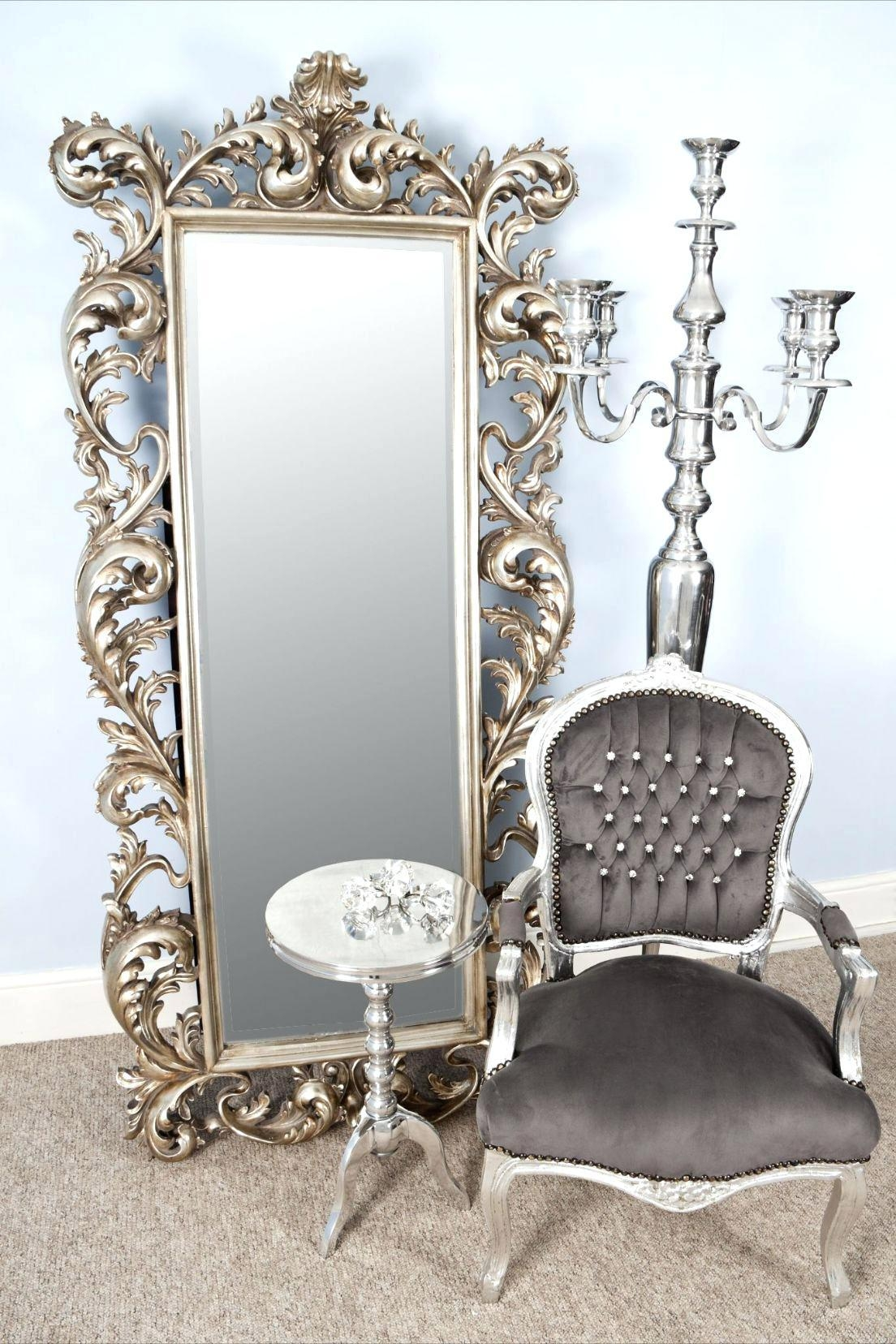 Rustic Solid Oak Large Mirrorbig Round Mirror Uk Buy Wall – Shopwiz Regarding Big Silver Mirror (Image 19 of 20)
