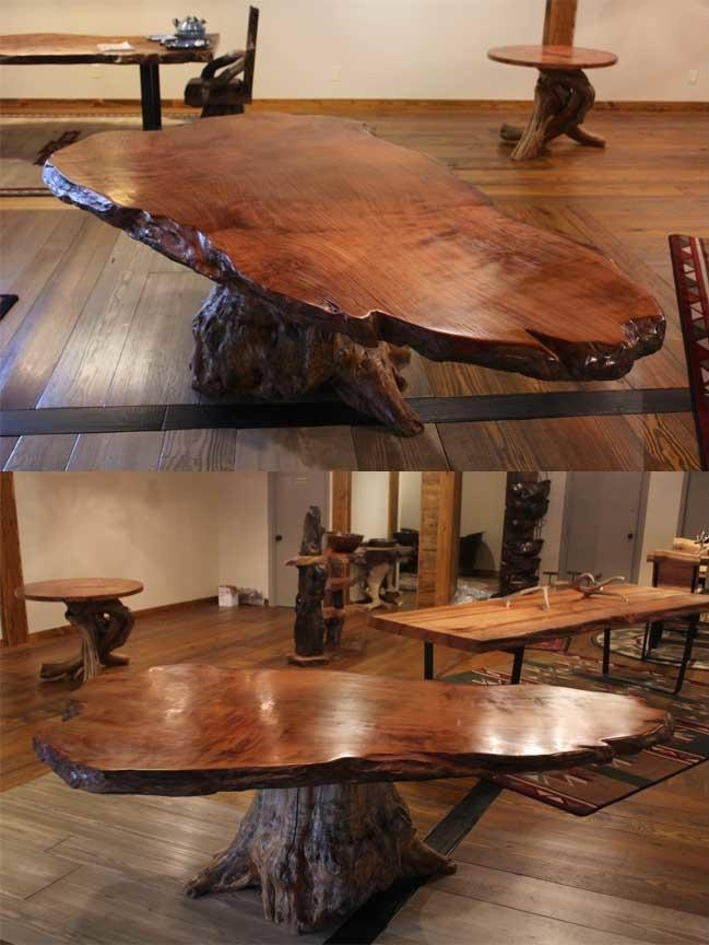 Rustic Table | Live Edge Table | Wood Table | Littlebranch Farm For Tree Dining Tables (Image 14 of 20)