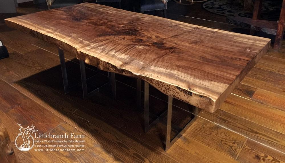 Rustic Table | Live Edge Table | Wood Table | Littlebranch Farm In Tree Dining Tables (Image 15 of 20)