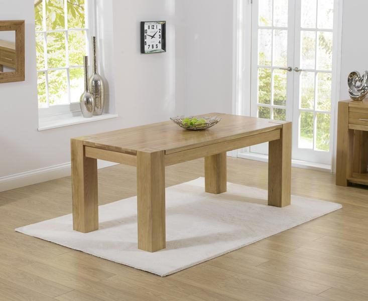 Rutland Solid Chunky Oak Furniture Large Dining Table And 6 With Chunky Solid Oak Dining Tables And 6 Chairs (View 17 of 20)