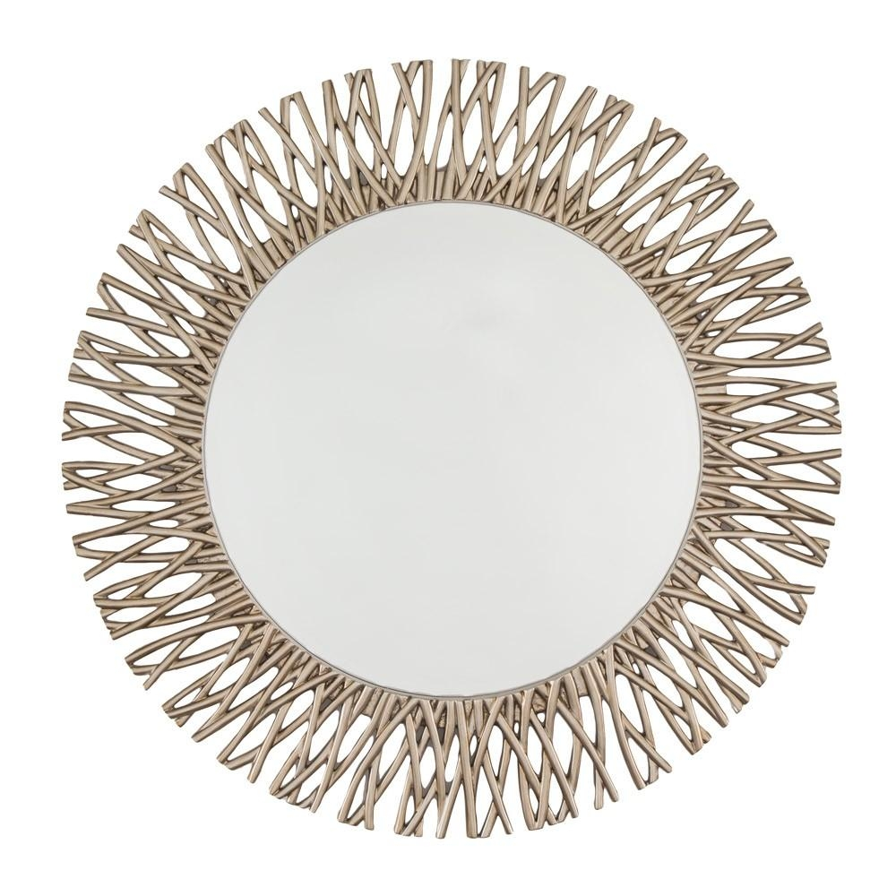 Rv Astley Adel Champagne Silver Finish Mirror | Houseology Pertaining To Champagne Mirror (Image 17 of 20)