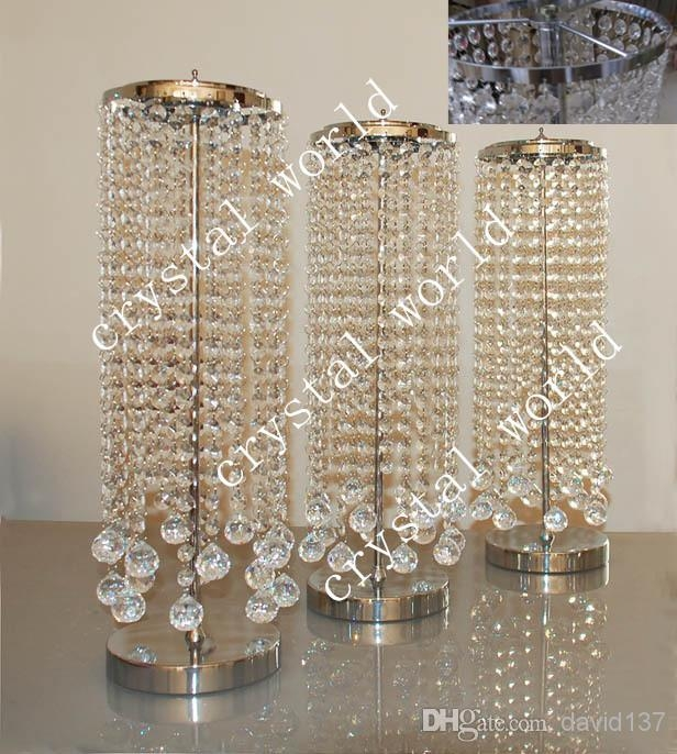 Sale Bulk Elegant Crystal Table Top Chandelier Centerpieces For Regarding Faux Crystal Chandelier Centerpieces (View 2 of 25)