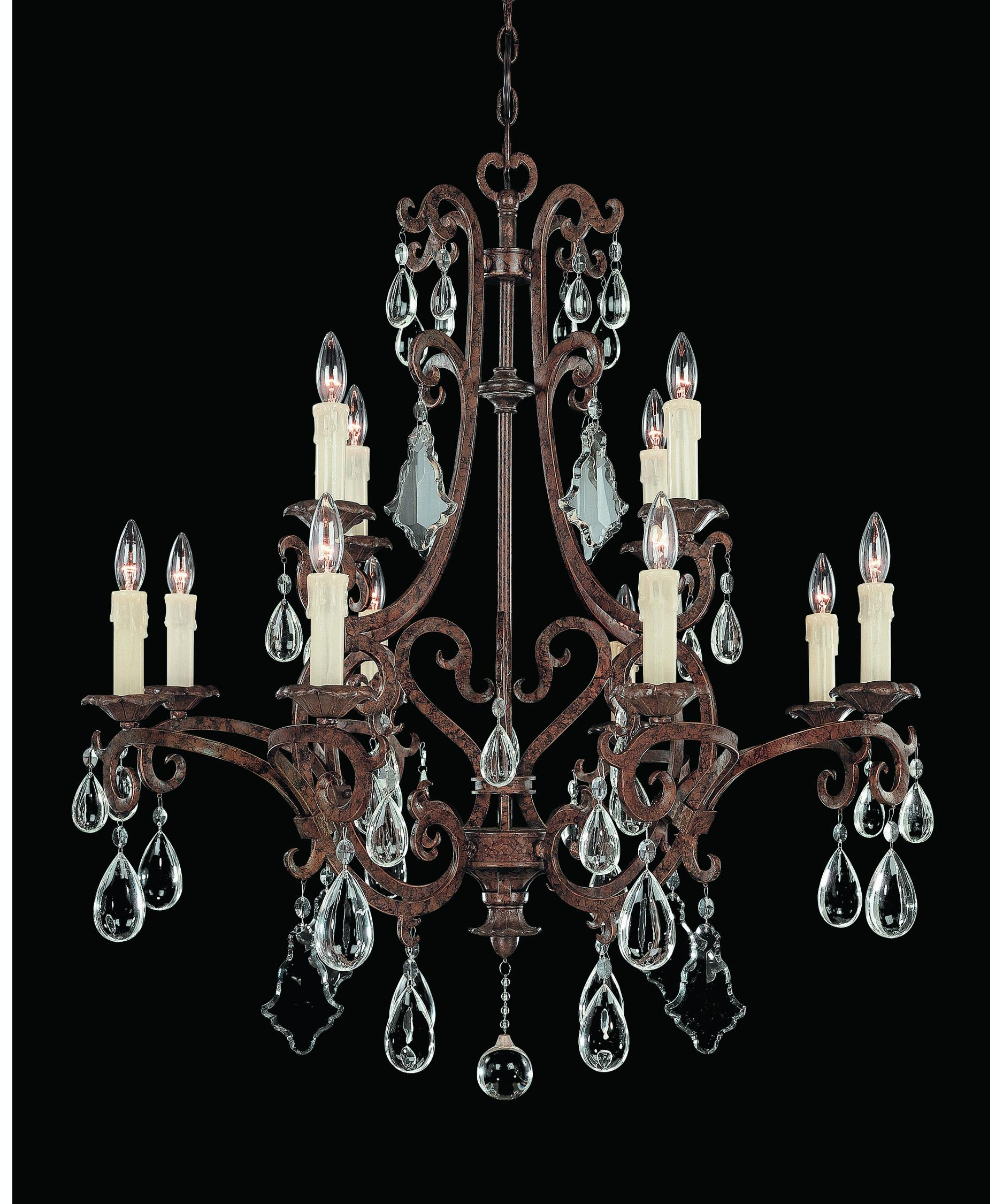 Savoy House 1 1403 12 56 Florence 33 Inch Wide 12 Light Chandelier In Savoy House Chandeliers (Image 9 of 25)