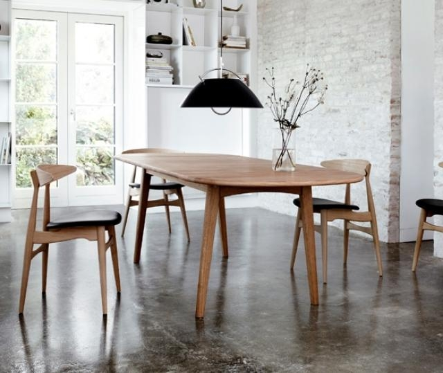 Scandinavian Dining Tables Houzz With Gorgeous Scandinavian Style In Danish Style Dining Tables (Image 18 of 20)
