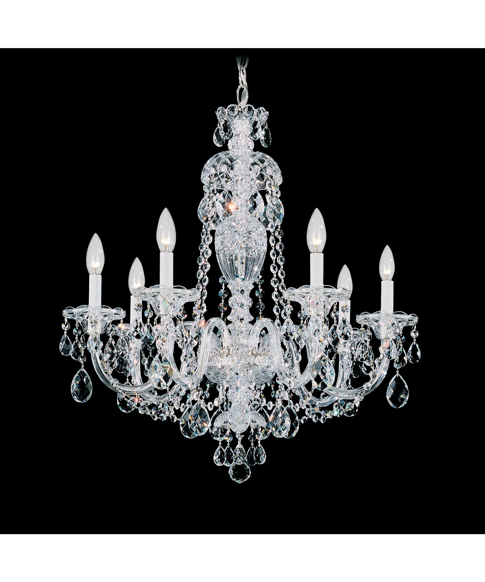 Schonbek 2995 Sterling 25 Inch Wide 7 Light Chandelier Capitol Throughout 7 Light Chandeliers (Image 19 of 25)