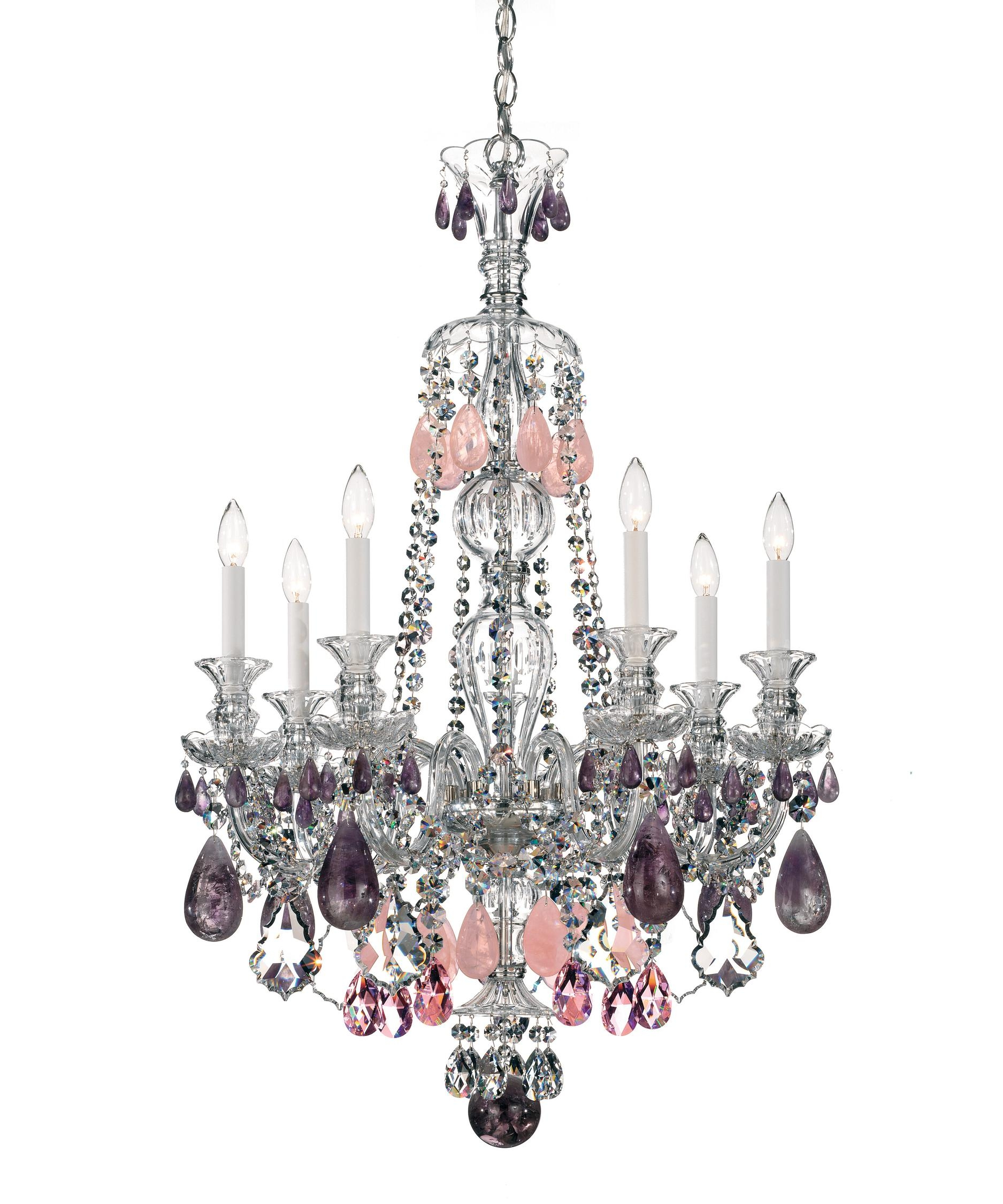 Schonbek 5506 Hamilton Rock Crystal 26 Inch Wide 7 Light Within 7 Light Chandeliers (Image 20 of 25)