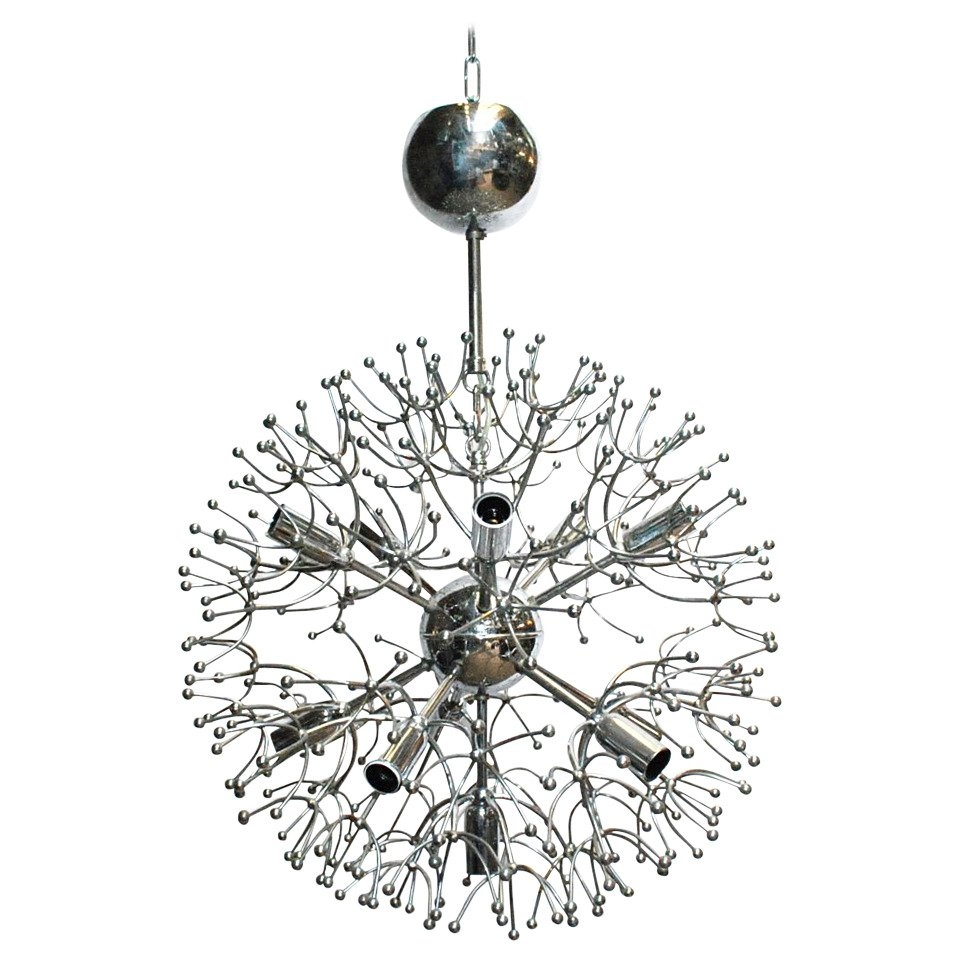 Sciolari Chrome Sputnik Chandelier For Sale At 1stdibs With Chrome Sputnik Chandeliers (Image 14 of 25)