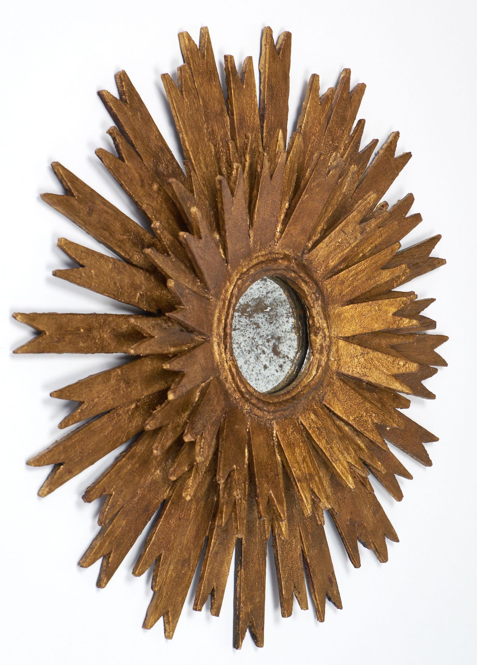 Sculptural Gold Leaf Sunburst Mirrors – Jean Marc Fray Pertaining To Vintage Gold Mirrors (Image 18 of 20)