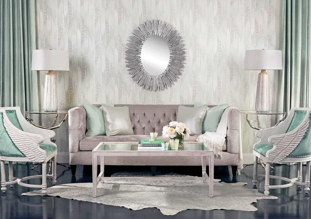 Seafoam Dream – Beckett Sofa – Eclectic – Living Room – Houston Within Seafoam Sofas (View 3 of 20)