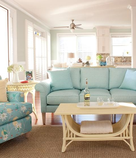 Seafoam Living Room – Carameloffers With Seafoam Sofas (Image 14 of 20)