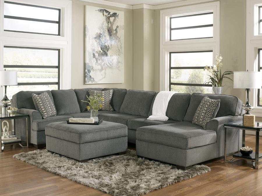 Sectionals Regarding Chenille Sectional Sofas With Chaise (Image 17 of 20)
