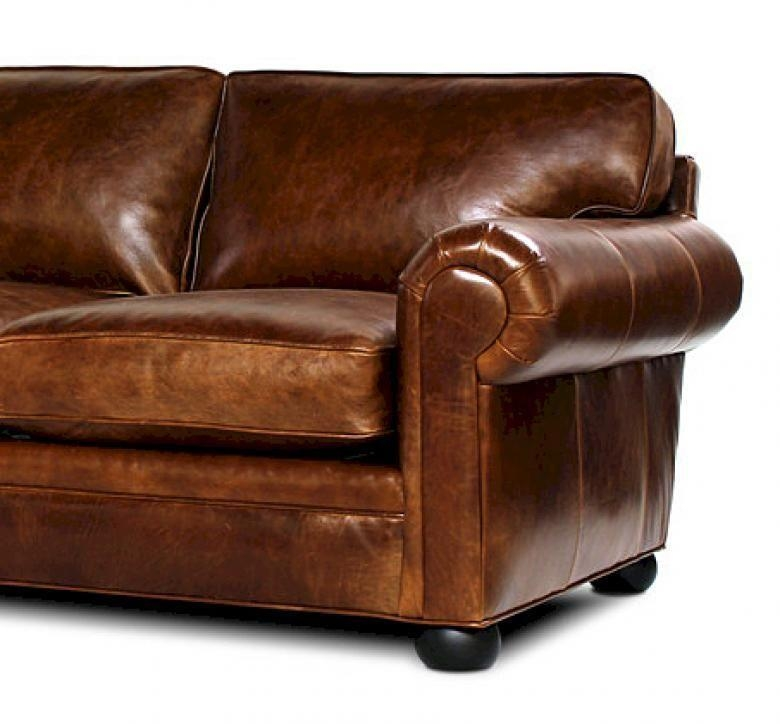 Sedona (Lancaster) Oversized Seating Leather Sofa & Set Throughout Brompton Leather Sectional Sofas (Image 15 of 20)