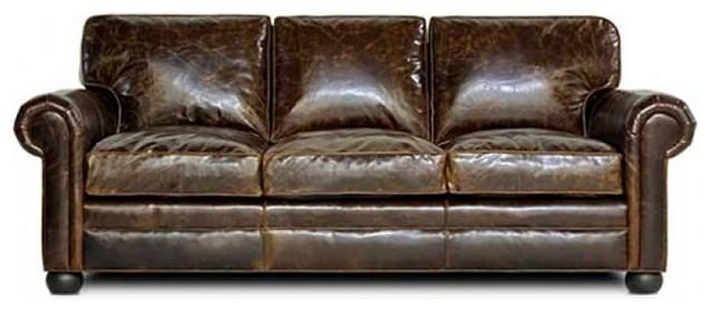Sedona Leather Sofa – Traditional – Sofas  Leatherfurnutureexpo For Brompton Leather Sectional Sofas (Image 16 of 20)