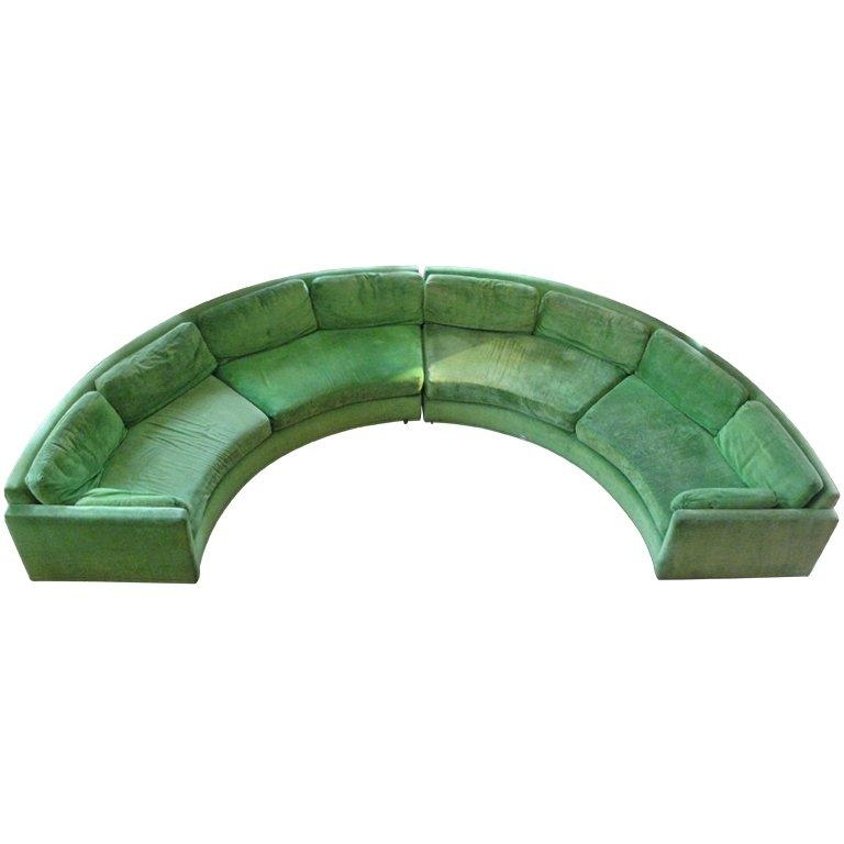 Semi Circular Curved Sectional Sofamilo Baughman At 1Stdibs For Semi Sofas (Image 18 of 20)