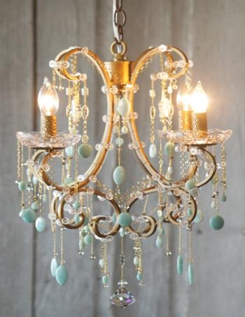 Semi Precious Stone Chandelier Residential Lighting Pertaining To Turquoise Stone Chandelier Lighting (Image 20 of 25)