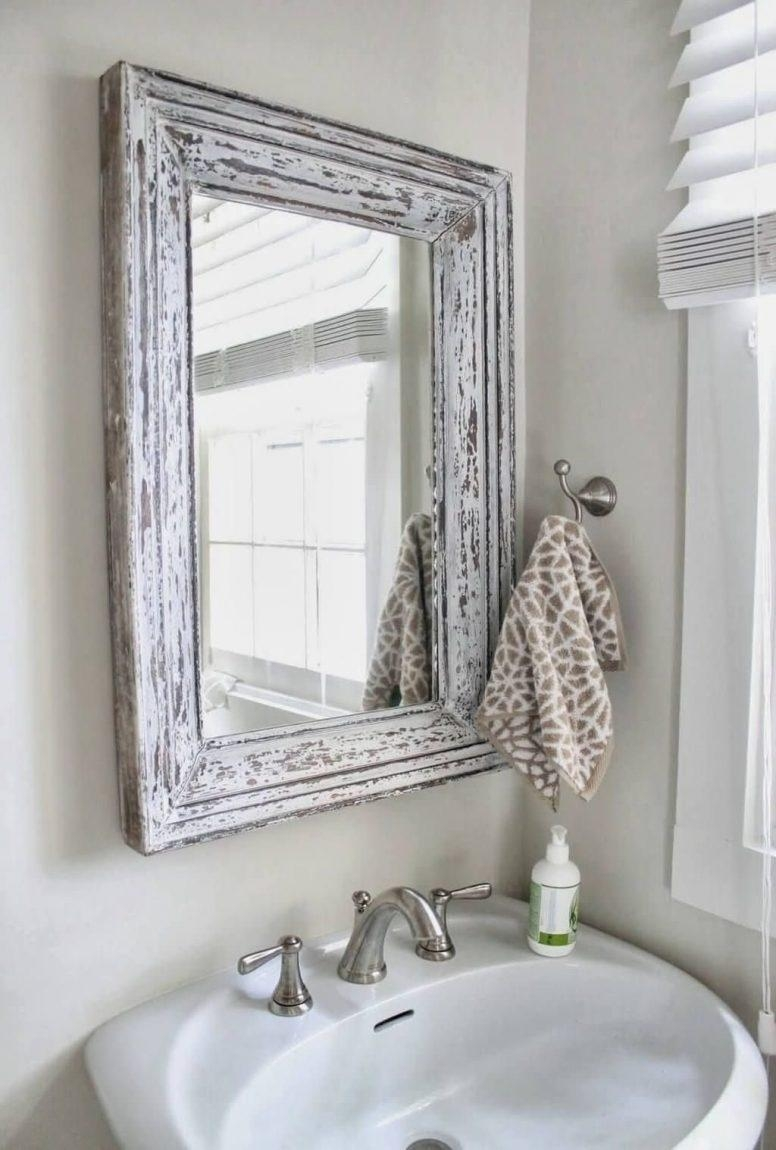 Shabby Chic Bathrooms On A Budget Stone Grey Modern Double Sink Within Large Shabby Chic Mirrors (View 19 of 20)