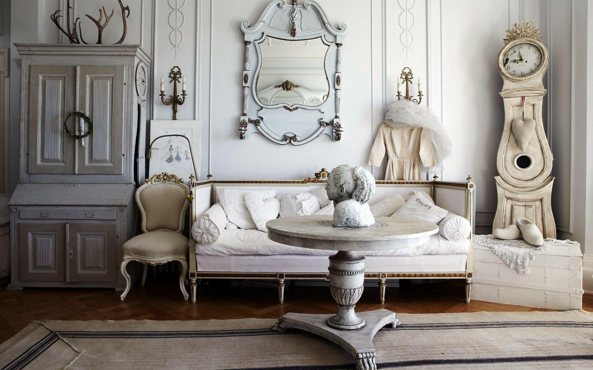 Shabby Chic Bedroom Ideas Pinterest White Wall Mounted Shelf With Regard To Cream Shabby Chic Mirror (Image 16 of 20)
