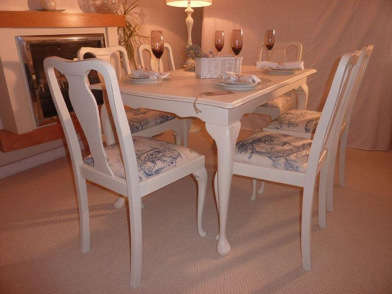 Shabby Chic Dining Table (Image 13 Of 20)