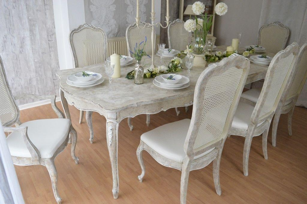 Shabby Chic Dining Table | Entable For French Chic Dining Tables (Image 20 of 20)
