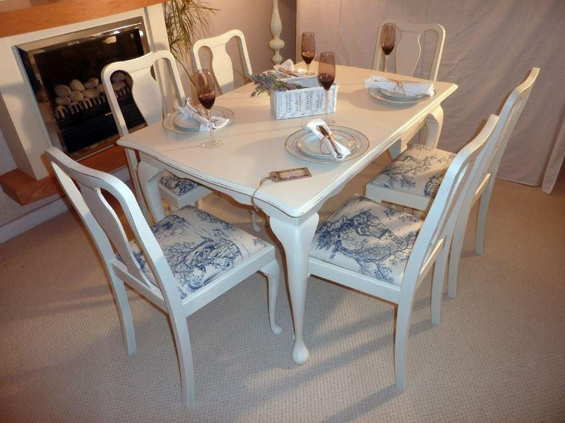 Shabby Chic Breakfast Table: Top 20 Shabby Chic Extendable Dining Tables