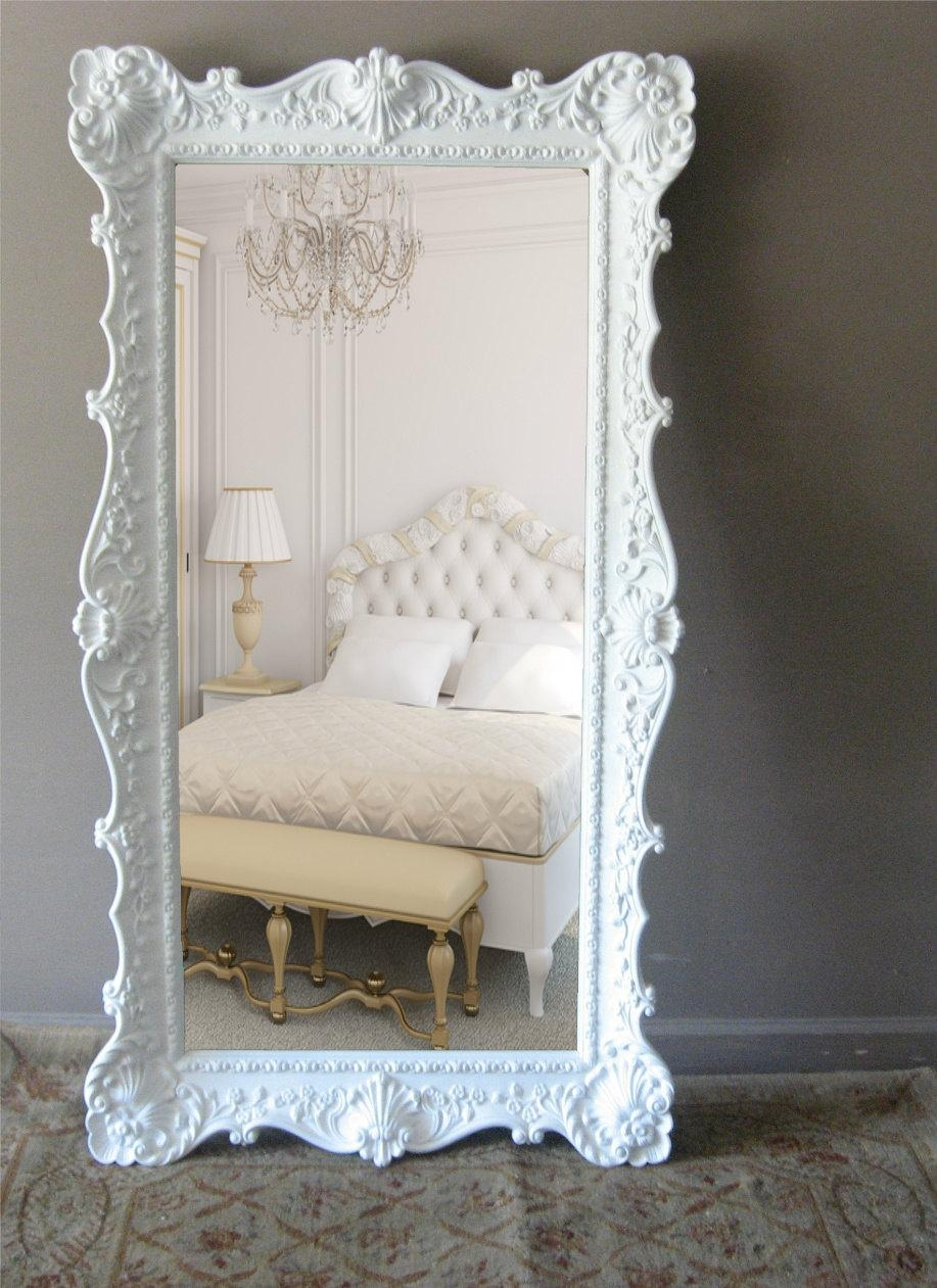 Shabby Chic Floor Mirror – Harpsounds (Image 12 of 20)
