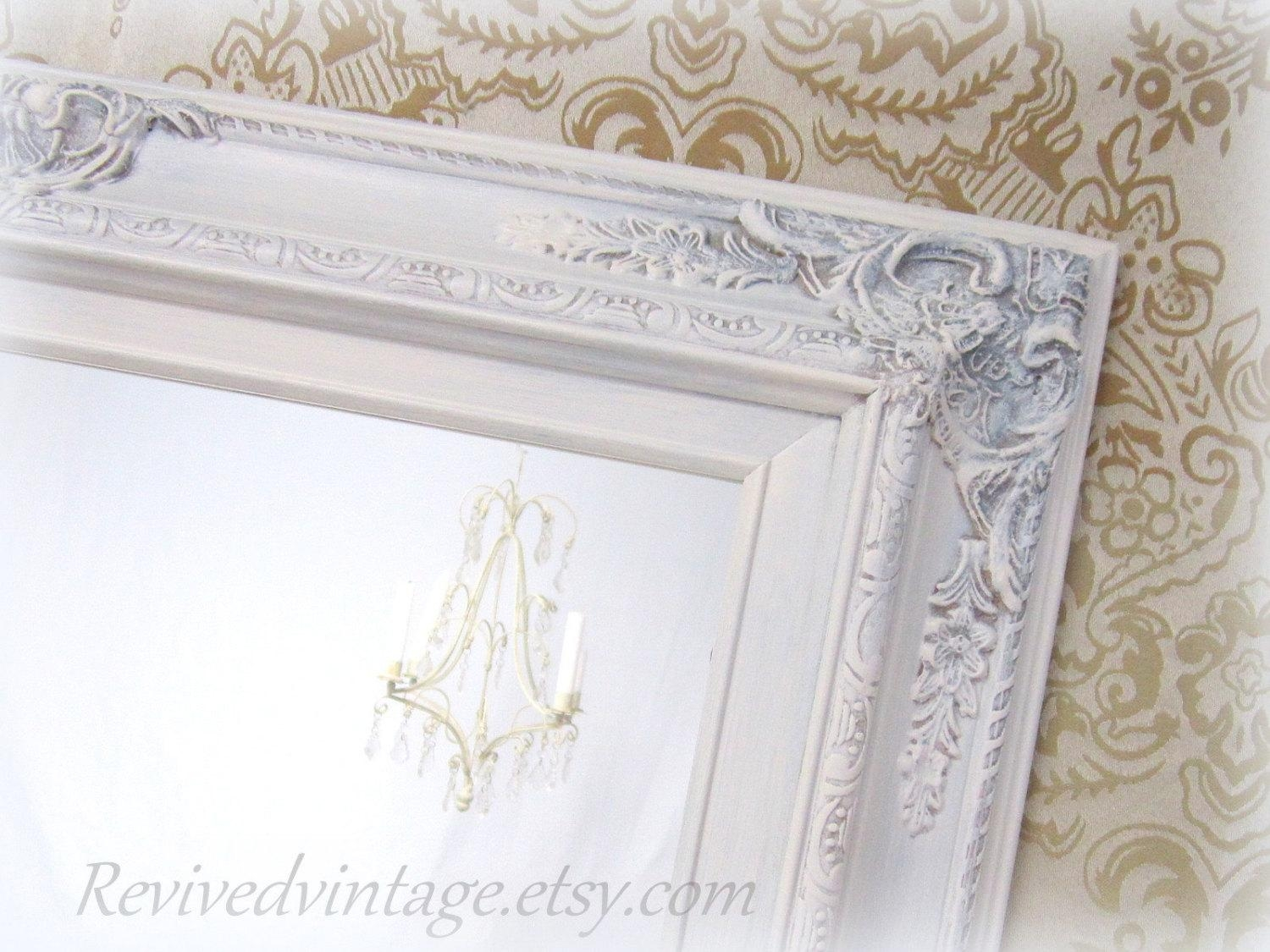 Shabby Chic Mirrors For Sale Baroque Framed Mirror With White French Mirrors (Image 17 of 20)