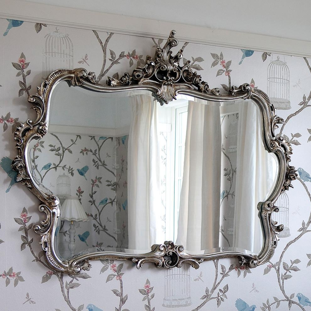 Shabby Chic Rustic Bedroom Bedroom Rustic With Wall Mirror Wall Mirror Intended For French Shabby Chic Mirror (Image 16 of 20)