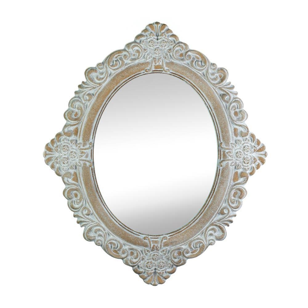 Shabby Vintage Style Chic Distress Mirror Wall Mirror Wall Decor Pertaining To Vintage Style Mirrors (Image 16 of 20)