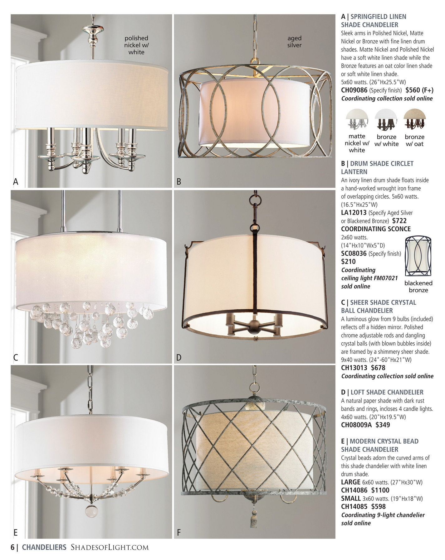 Shades Of Light Classic Luxuries 2017 Page 6 7 Throughout Linen Chandeliers (Image 22 of 25)
