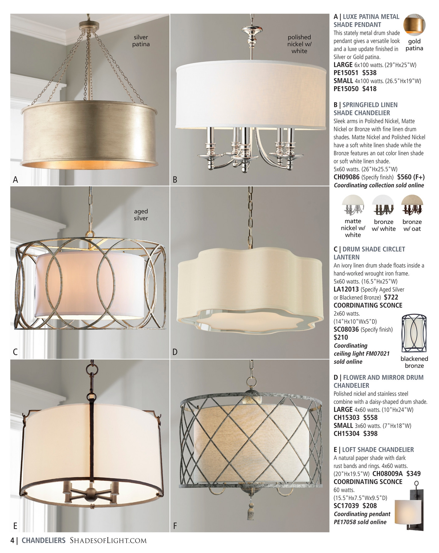 Shades Of Light Global Market 2017 Page 4 5 In Metal Drum Chandeliers (Image 24 of 25)