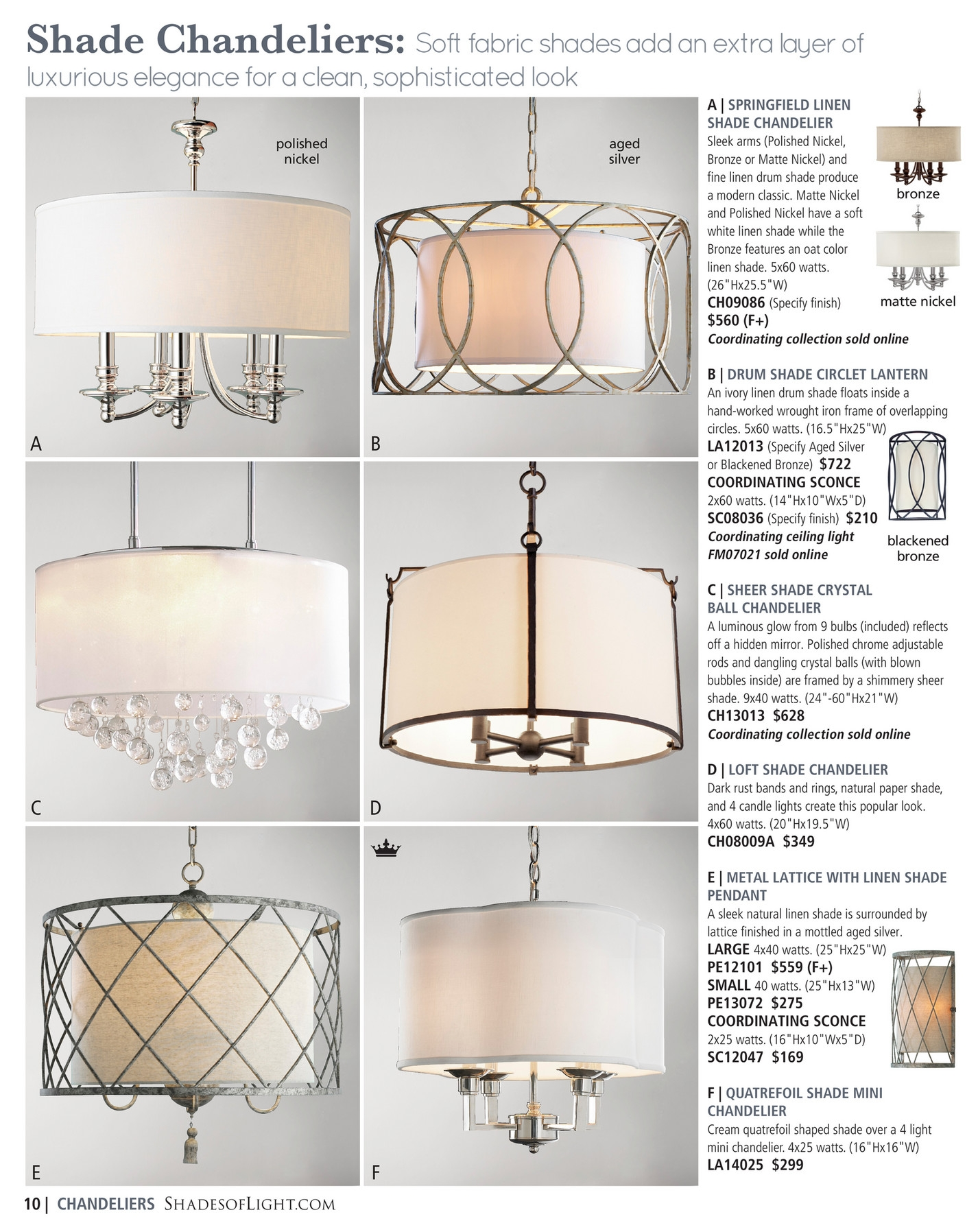 Shades Of Light Modern Minimalist 2016 Page 10 11 In Linen Chandeliers (Image 24 of 25)