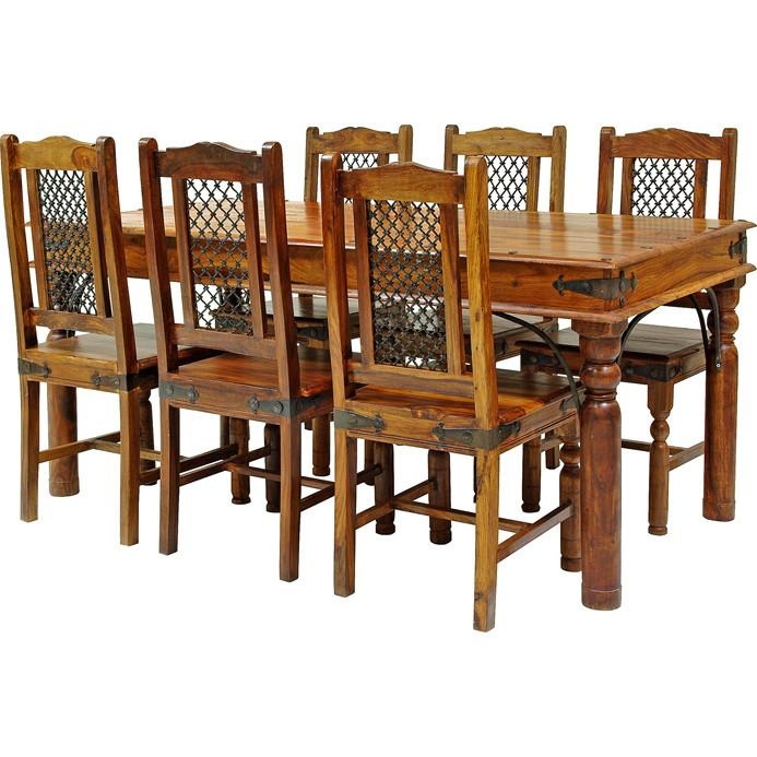 Sheesham Dining Table 8 Chairs For Sheesham Dining Tables And Chairs (Image 13 of 20)