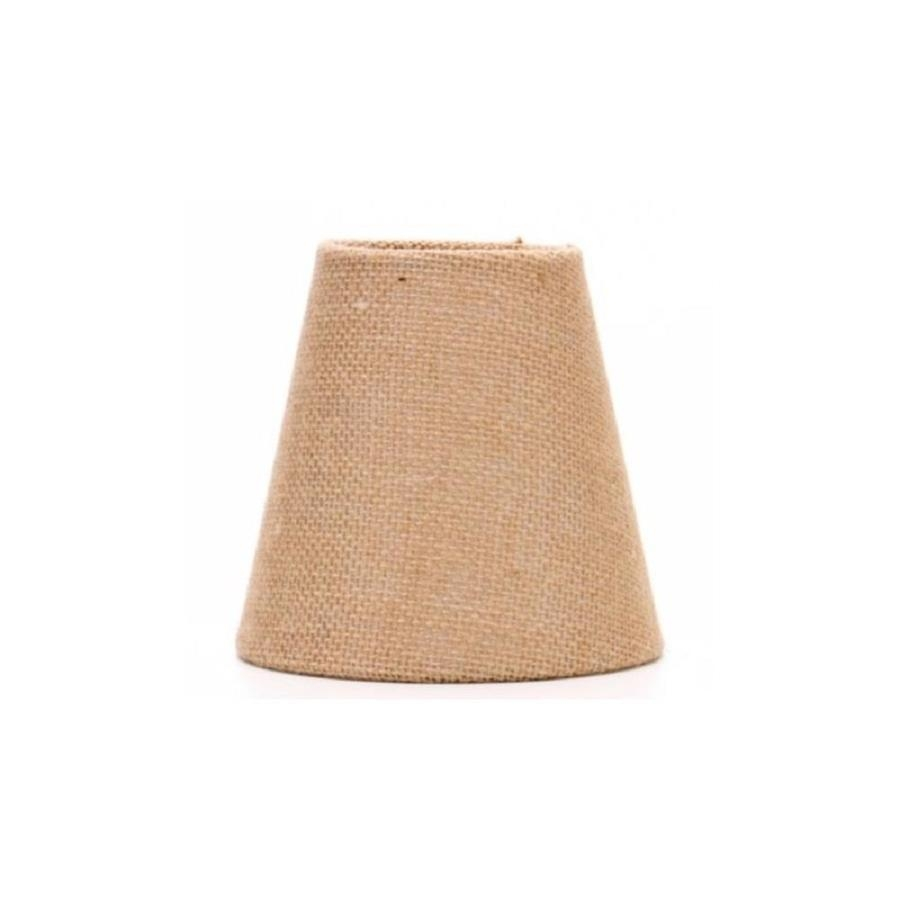 Shop Allen Roth 5 In H Burlap Chandelier Light Shade At Lowes Intended For Chandelier Light Shades (View 25 of 25)
