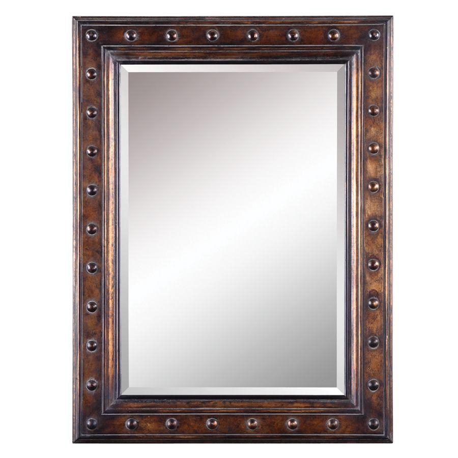 Shop Allen + Roth Bronze Beveled Wall Mirror At Lowes Inside Bronze Wall Mirror (Image 16 of 20)