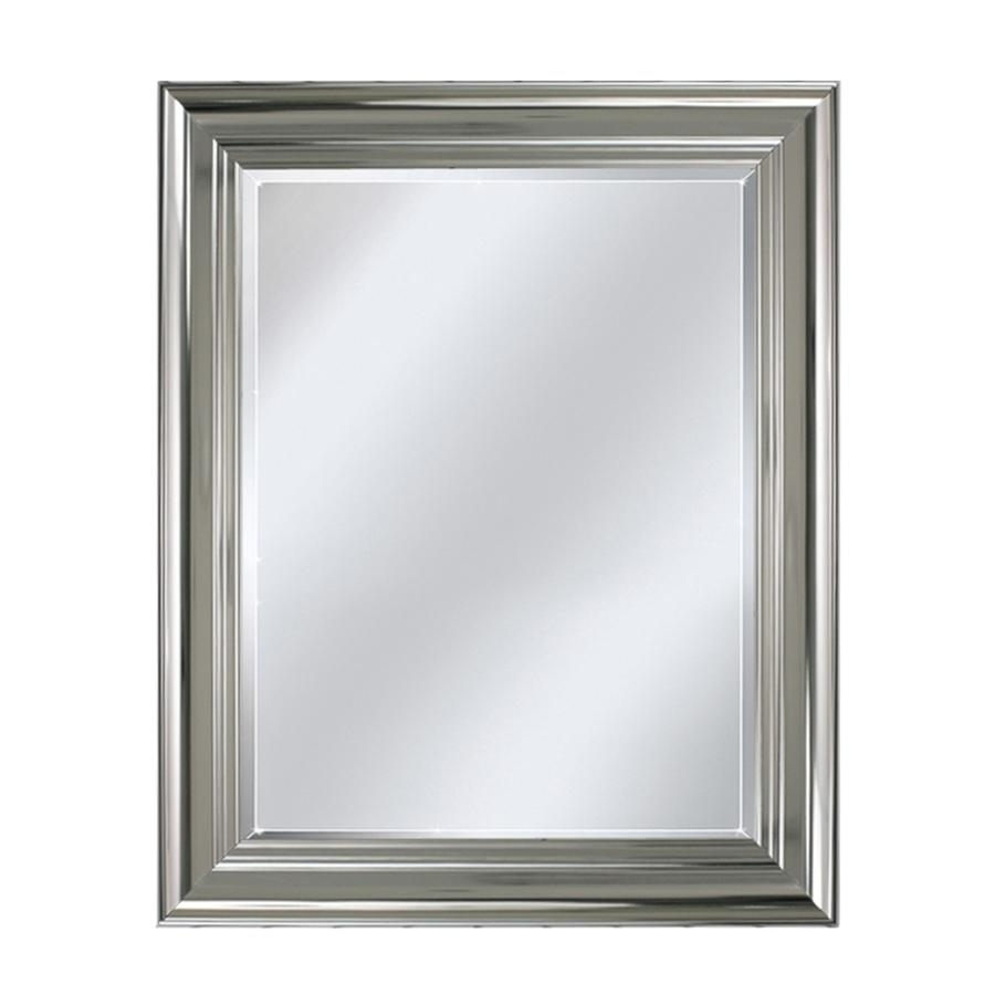 Shop Allen + Roth Chrome Wall Mirror At Lowes Intended For Chrome Wall Mirror (Image 16 of 20)