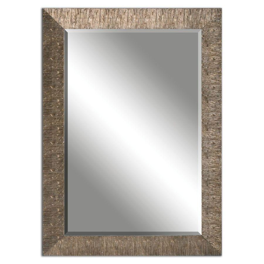 Shop Allen + Roth Golden Champagne Beveled Wall Mirror At Lowes With Champagne Mirror (Image 19 of 20)