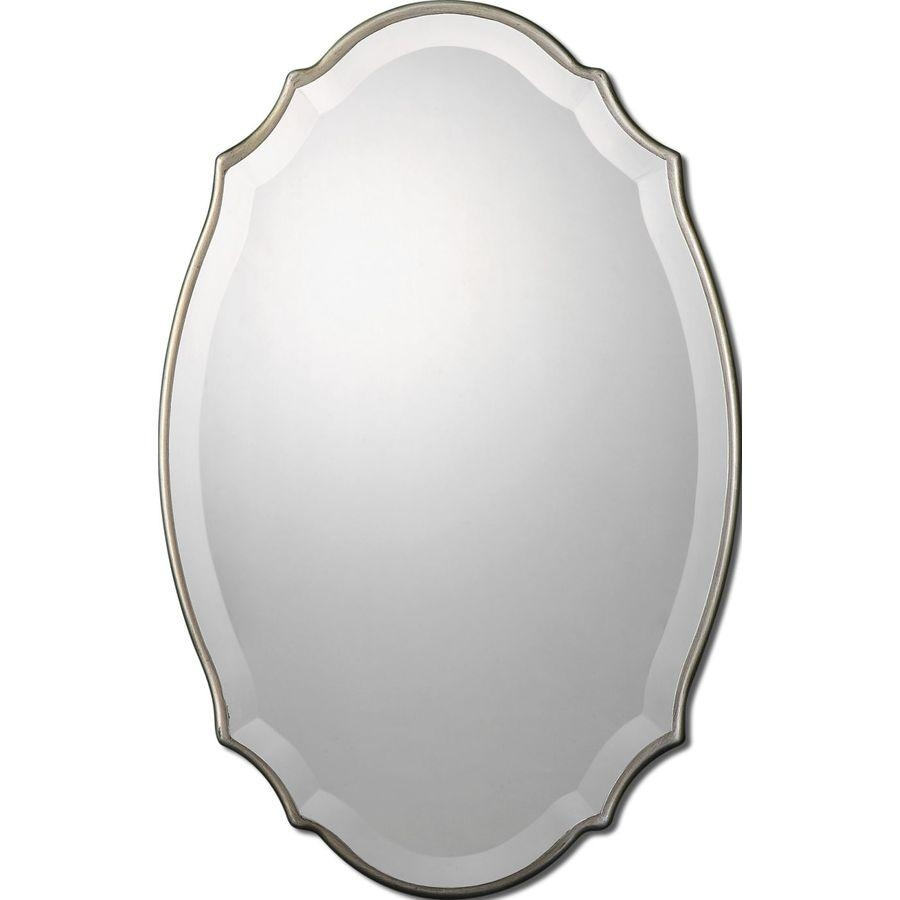 Shop Allen + Roth Silver Beveled Oval Wall Mirror At Lowes Intended For Oval Silver Mirror (View 19 of 20)
