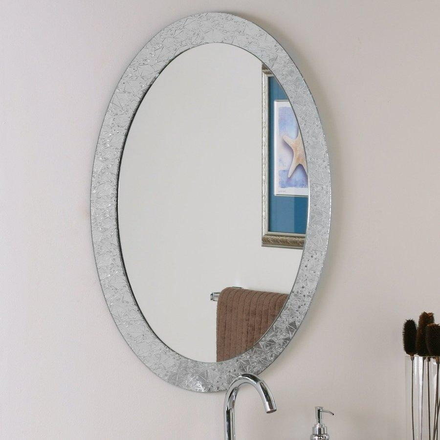 Shop Bathroom Mirrors At Lowes Regarding Oval Cream Mirror (Image 17 of 20)