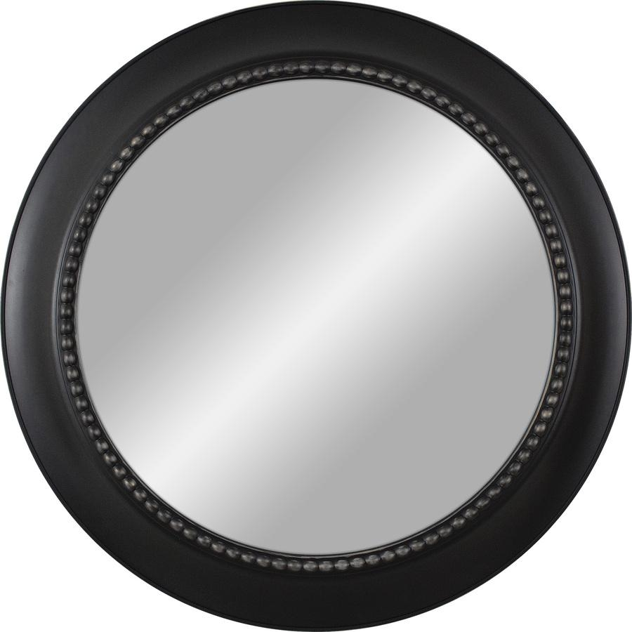 Shop Black Polished Round Wall Mirror At Lowes With Round Black Mirror (View 14 of 20)