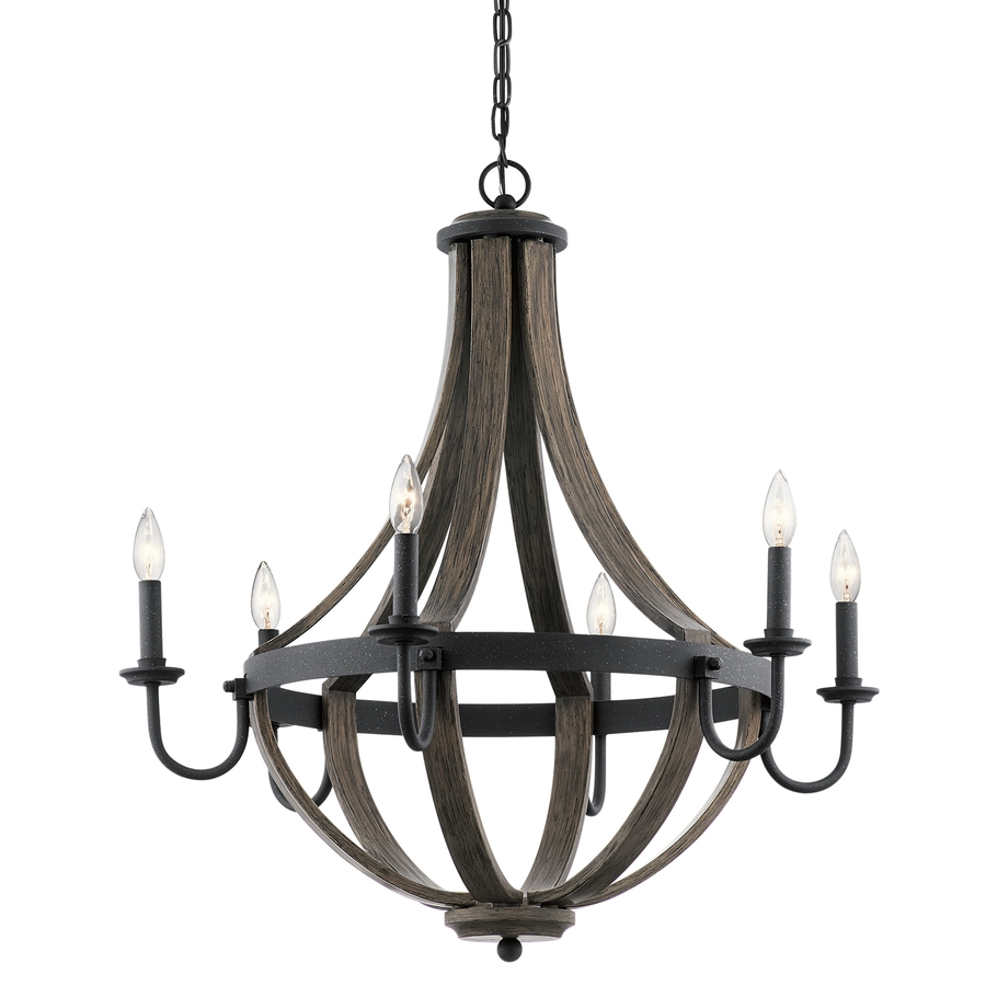 Shop Chandeliers At Lowes Throughout Metal Ball Candle Chandeliers (Image 24 of 25)