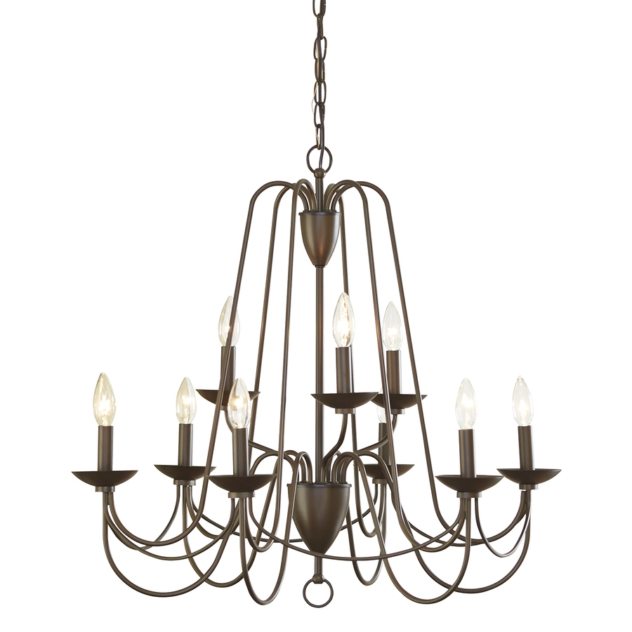 Shop Chandeliers At Lowes With Regard To Metal Ball Candle Chandeliers (Image 25 of 25)