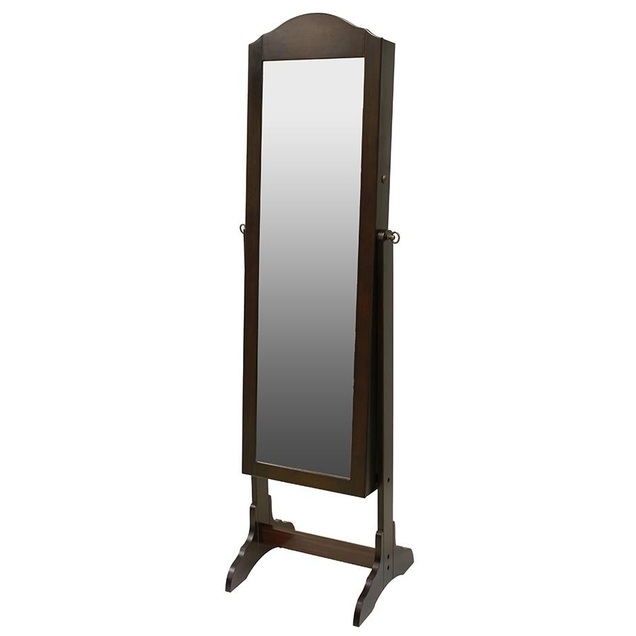 Shop Chocolate Cheval Mirror Jewelry Armoire At Lowes For Cheval Mirror (Image 17 of 20)