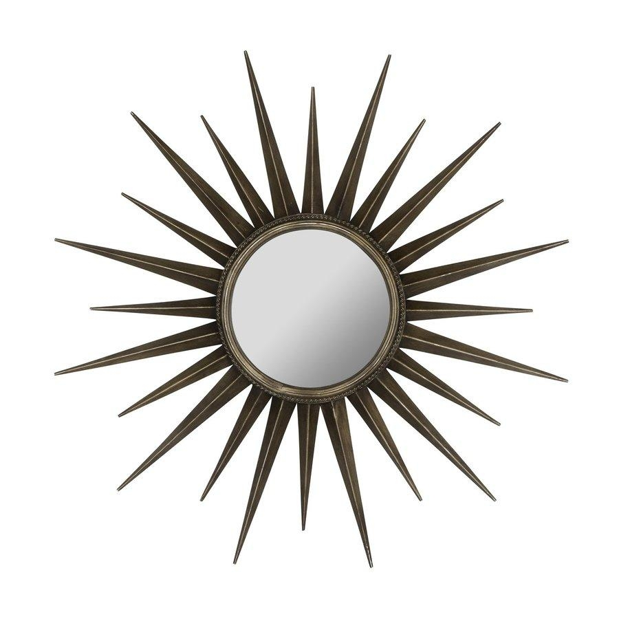 Shop Cooper Classics Remi 39 In X 39 In Bronze Beveled Round Throughout Bronze Starburst Mirror (Image 19 of 21)